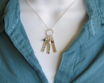 Name Necklace- Two Charms