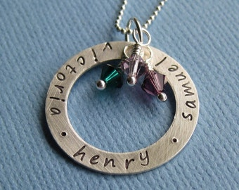 Custom Personalized Hand-Stamped Necklace