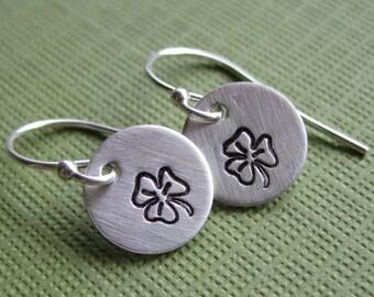 Luck- Tiny Shamrock Earrings