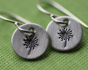 Tiny Dandelion Earrings