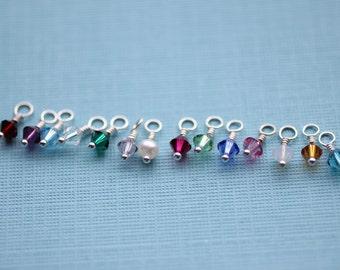Swarovski Birthstone Charm- ONE crystal charm
