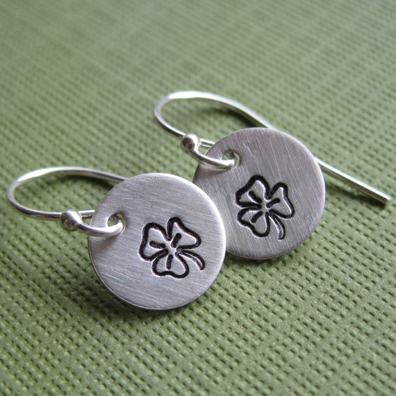 tiny shamrock earrings