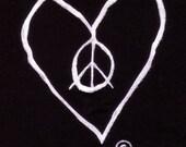 SALE PEACE LOVE T SHIRT VINTAGE SOFT