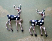 SALE 1950's Fawn Bobby Sock Pins Vintage