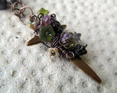 Garden Cross Necklace