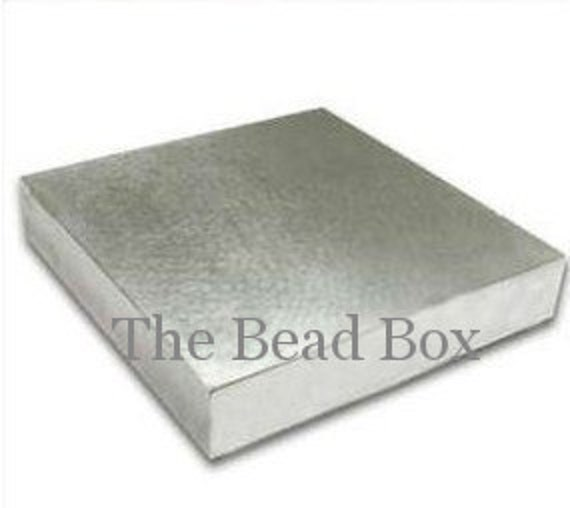 "4"" x 4"" X 1/2 "" STURDY steel bench block for hand stamping - anvil"