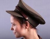 Vintage Army Hat / Medium