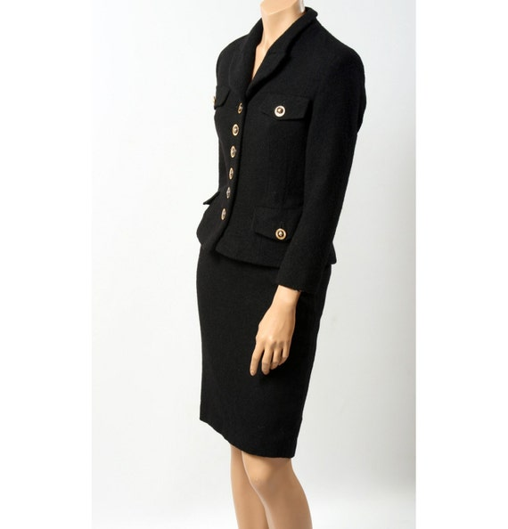 Coco Chanel Style Vintage Black Woman Suit With By