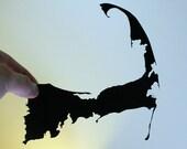 Cape Cod Hand Cut Paper Silhouette 8x10