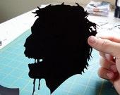 ZOMBIE Papercut Hand Cut Silhouette 8x10
