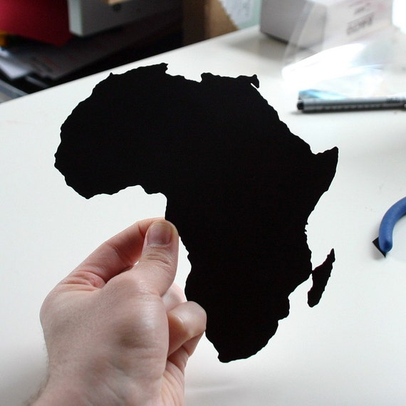 Africa- hand-cut paper silhouette world tour 8x10