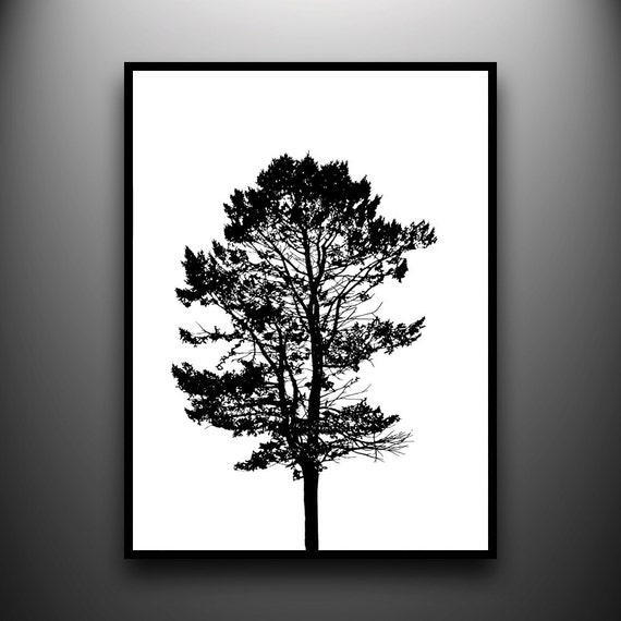Pine Tree Portrait 18x24 original papercut