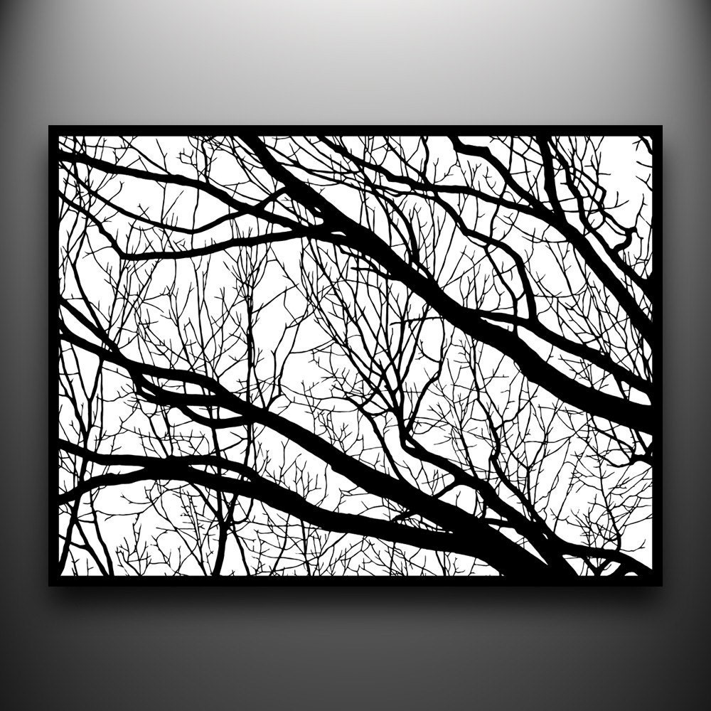Branches 2 18x24 Hand Cut Paper Art Framed And One Of A Kind