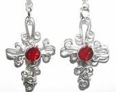 Goth Cross Earrings