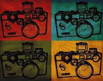 Vintage Camera Print Art Print Camera Art VINTAGE ARGUS COLOR - Photomontage Fine Art Print - Signed and Dated