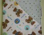 Burp Cloth or Bitty Blanket - unisex for boys and girls