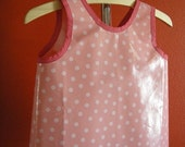 Don't Get Your Clothes Dirty Smock- small -Pink and White Polka Dots
