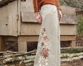 Hemp ORganic Cotton Pixie flower pants  MADE TO ORDER