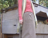 Hemp pants  Organic Cotton Dharma mini gaucho  Made to order