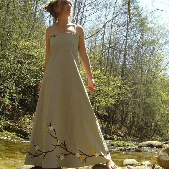 Hemp organic cotton ecofriendly forest faerie by for Organic cotton wedding dress