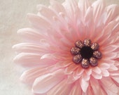 large pink hair flower