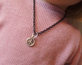 "18"" doll peace sign necklace"