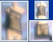 BEACHCOMBER Skirt and Halter Top Crochet Pattern by Cindy Kamps