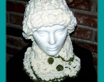 Winter Chill Hat and Neckwarmer Scarf Pattern PDF