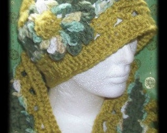 Evolutions Hat and Scarf Crochet pattern