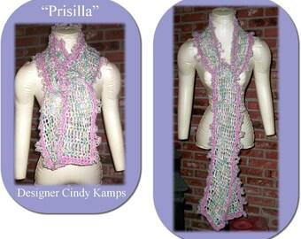PRISILLA Crochet Scarf Pattern by Cindy Kamps