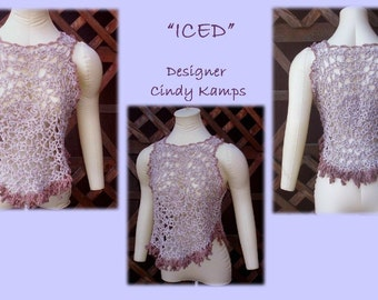 ICED Fringed Tank Top Crochet Pattern by Cindy Kamps