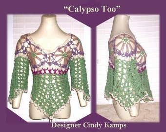 CALYPSO Asymmetrical Top Pattern by Cindy Kamps