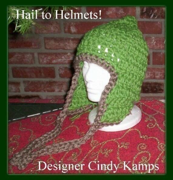 3 Fabulous Helmet Hat Patterns by Cindy Kamps