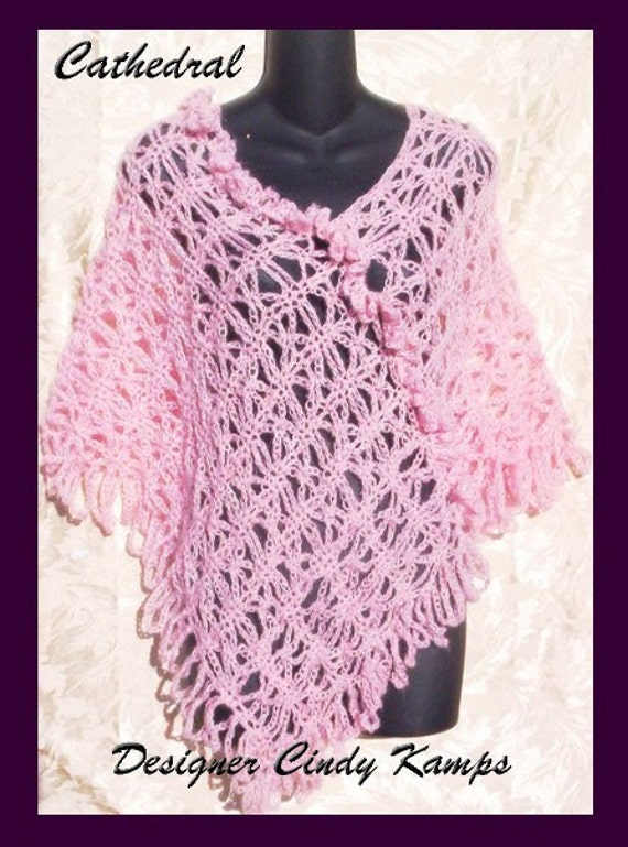 Cathedral Poncho Crochet Patterns by crochetbayboutique on Etsy