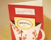 Just a Note Tea Card