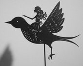 Thumbelina \/ Laser cut Shadow Puppet