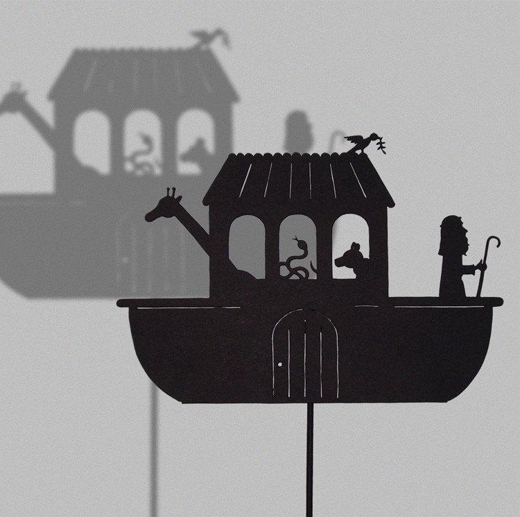 Noah's Ark / HAND-CUT SHADOW PUPPET