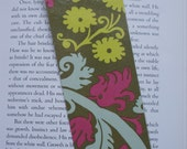 Flowers and Leaves designer Laminated bookmark