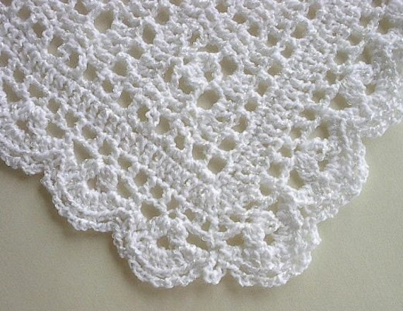 Baby Afghan Blanket Crocheted Snowy White Christening