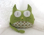 Green and Sassy Cat Plush