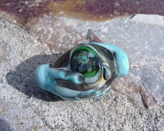 Handmade Lampwork Beads - From the dark side