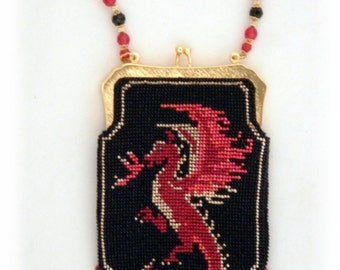 Dragons Fire ( Crocheted Beaded Purse Pattern )  PDF Download