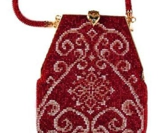 Angie ( Crochet Beaded Purse Pattern ) PDF Download
