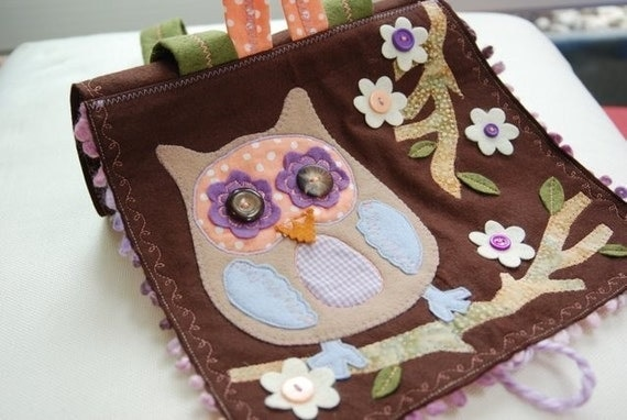 Busy Little Owl Backpack - Brown