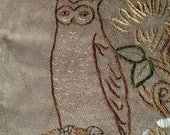 HOLD FOR LINDSEY William Morris Owl Pillow