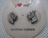 Scottish Terrier Earrings Dog Lover Gift