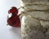 CLOSING SALE - Carnelian earrings,gold filled earwires