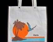 70s 80s vintage Florida tote bag