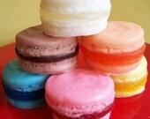 French Macaron Soap Complete Set - Lemon, Orange, Pina Colada, Cotton Candy, Strawberry, Chocolate, Party Favors, Wedding Favors