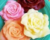 Rose Blossom Flower Soap - Rose Soaps, Bridal Shower Favors, Wedding Favors, Baby Shower, Spring Soaps, Guest Bathroom Soap